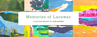 Collages from Barb Mowery's Lacawac Artists' Residency