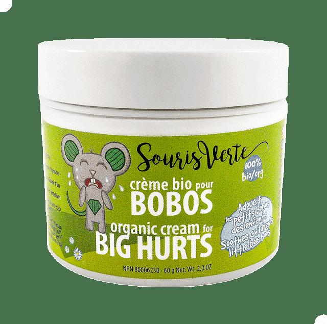 crème bio pour bobos souris verte