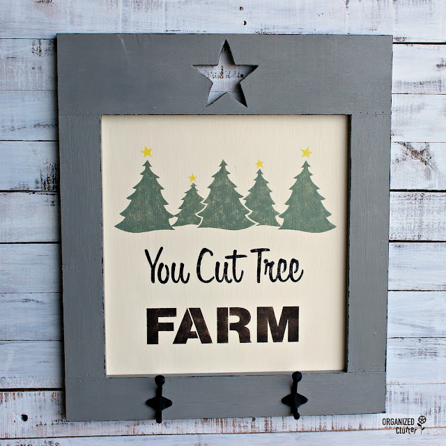 You Cut Tree Farm Sign www.organizedclutter.net