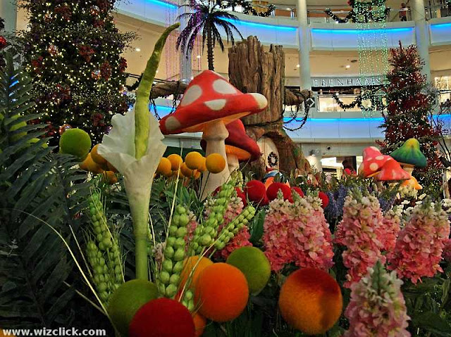 A Colourful Whimsie Forest Christmas Theme at The Curve Shopping Mall 2012