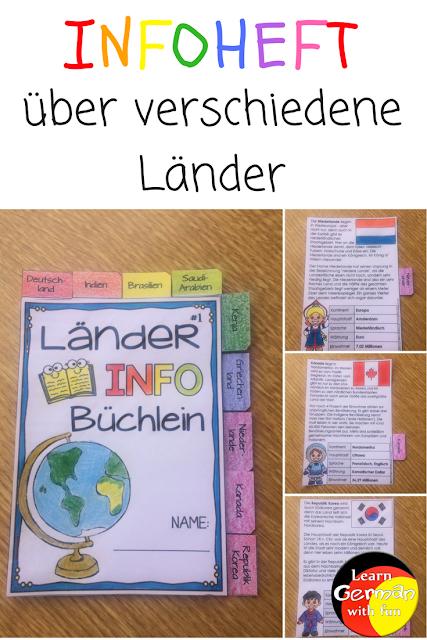 Infos für Grundschüler zu Ländern.