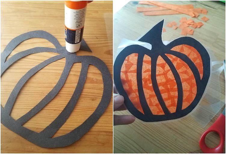 Atrapasol de papel con motivos otoñales