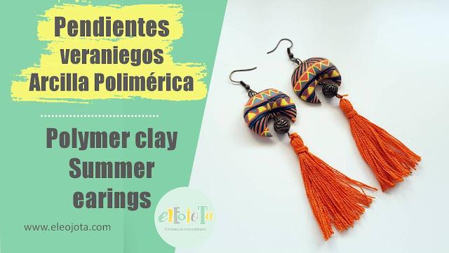 pendientes verano arcilla polimerica