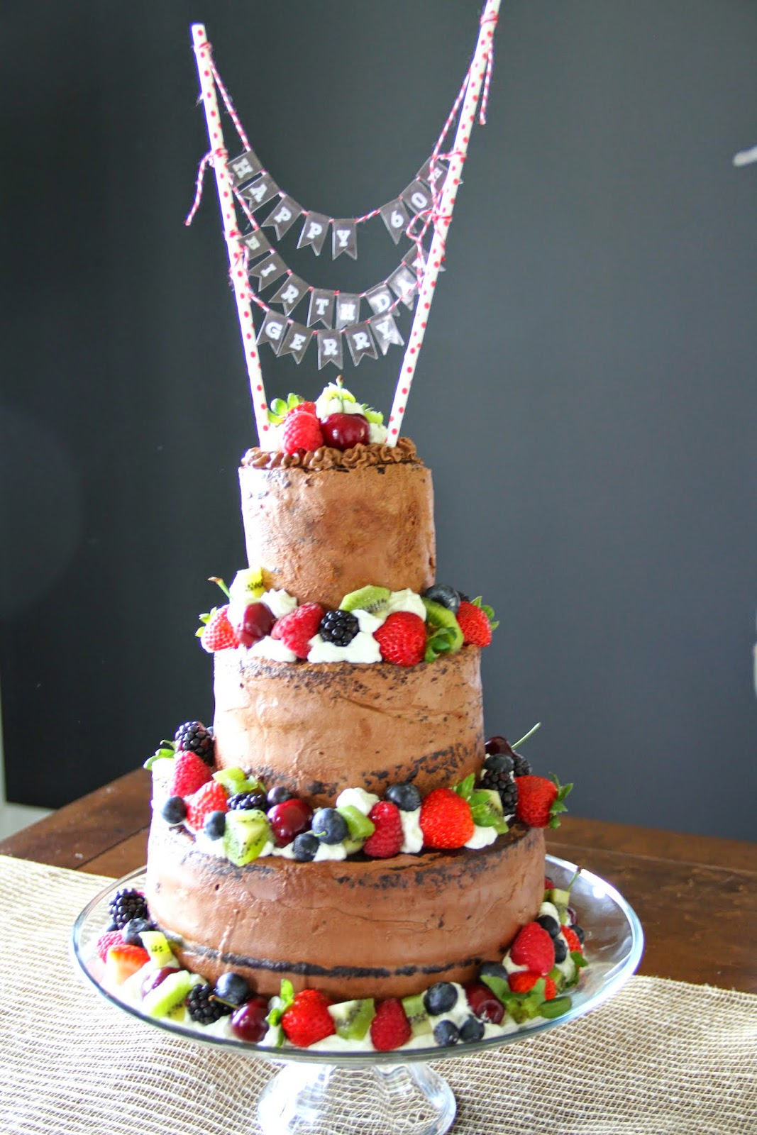 how to make a 3 tier chocolate wedding cake mennonite can cook chocolate tiered cake with berries 15775