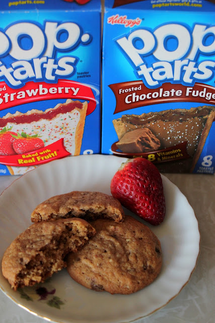 You won't believe how easy and tasty these cookies are that are made from Pop-Tarts! Our Chocolate Covered Strawberry Pop-Tart Cookie recipe is a must-try!
