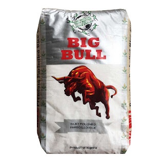 Big Bull Polished Parboiled Rice Big Bull rice is a Nigerian home grown rice, highly nutritious, produce and package in Nigeria.