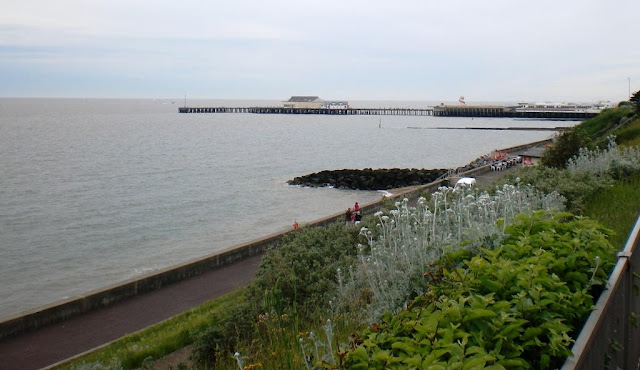 Clacton-on-Sea pier from the seafront