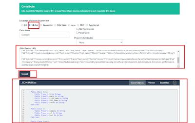 Cara mengenerate object class dari json format