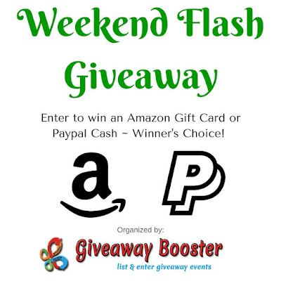Enter the Weekend Flash Giveaway. Ends 7/10