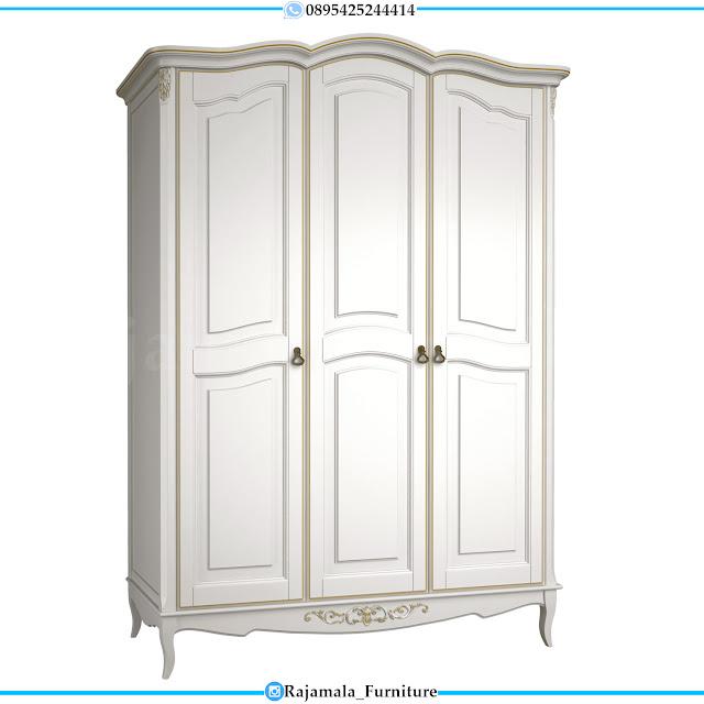 Harga Lemari Pakaian Putih Minimalis Kayu Perhutani High Quality RM-0306