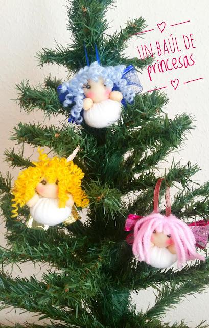 Ángeles para el árbol de navidad
