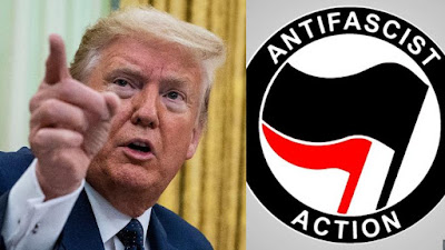 Donald trump and Antifa terrorists