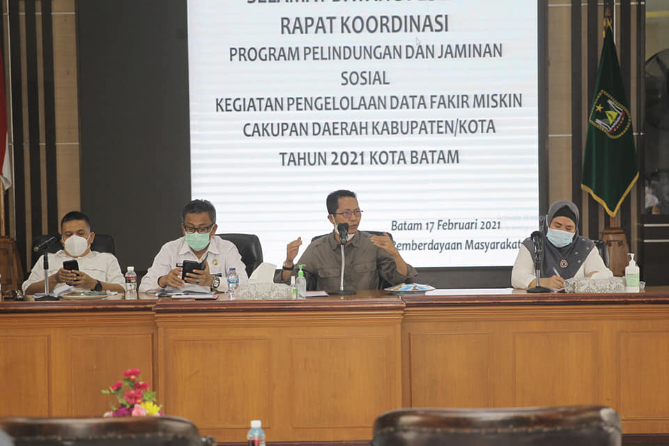 Wakil Walikota Batam Hadiri Rapat Koordinasi Program Perlindungan dan Jaminan Sosial Pengelolaan Fakir Miskin