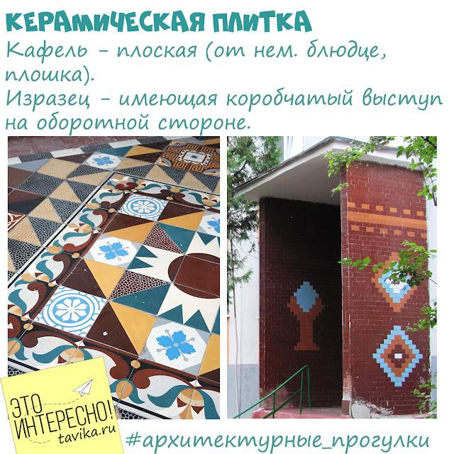 Керамическая плитка для украшения зданий