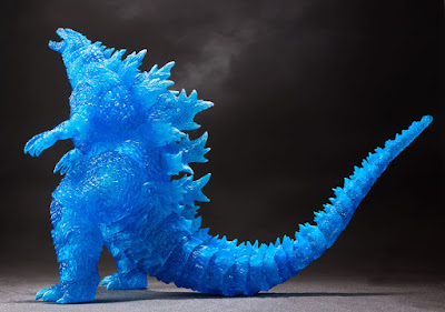 San Diego Comic-Con 2020 Exclusive Godzilla (2019) Blue Edition Vinyl Figure by S.H.MonsterArts x Tamashii Web Shop x Bluefin