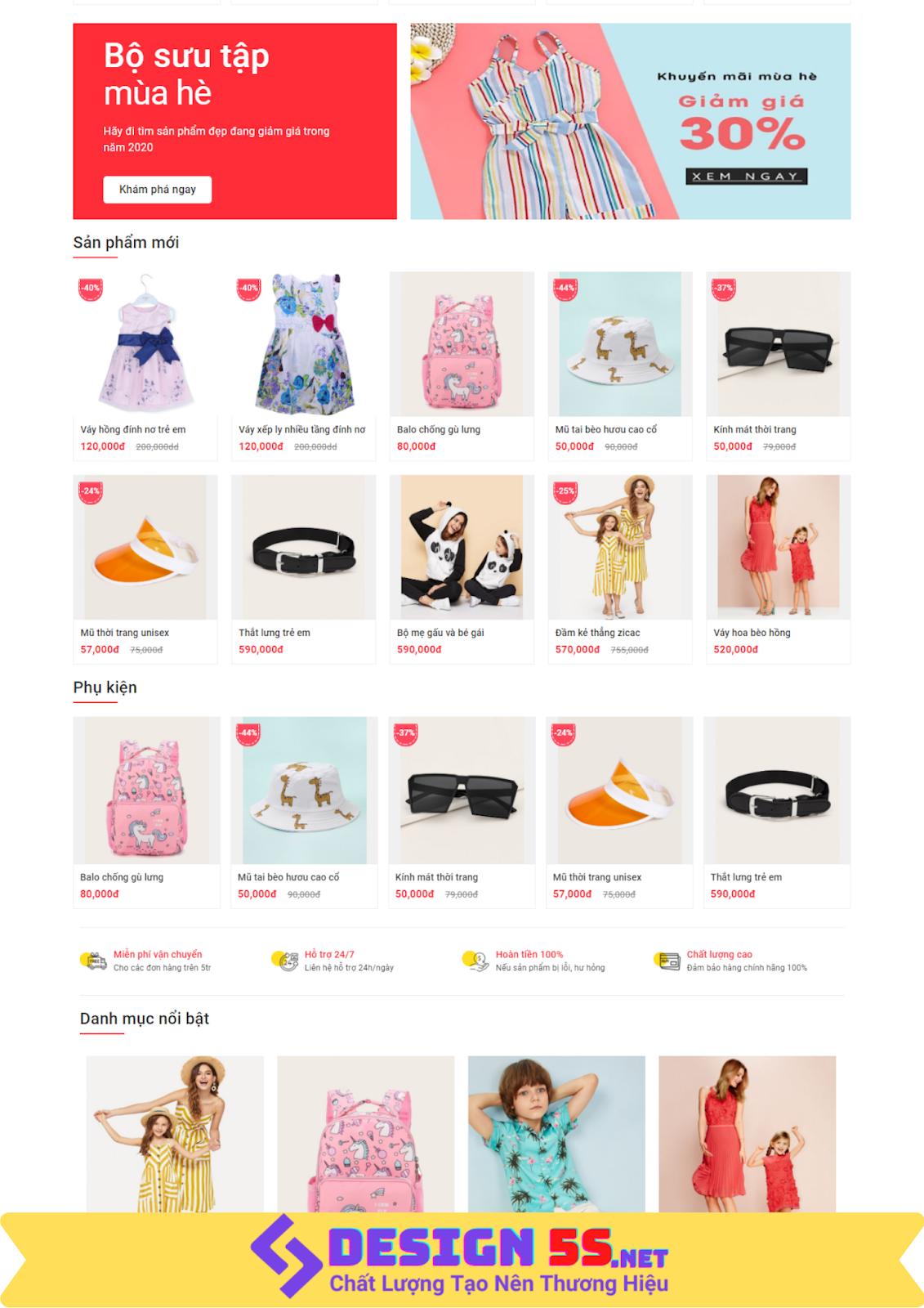 Template blogspot bán quần áo, giày dép tuyệt đẹp VSM07 - Ảnh 2