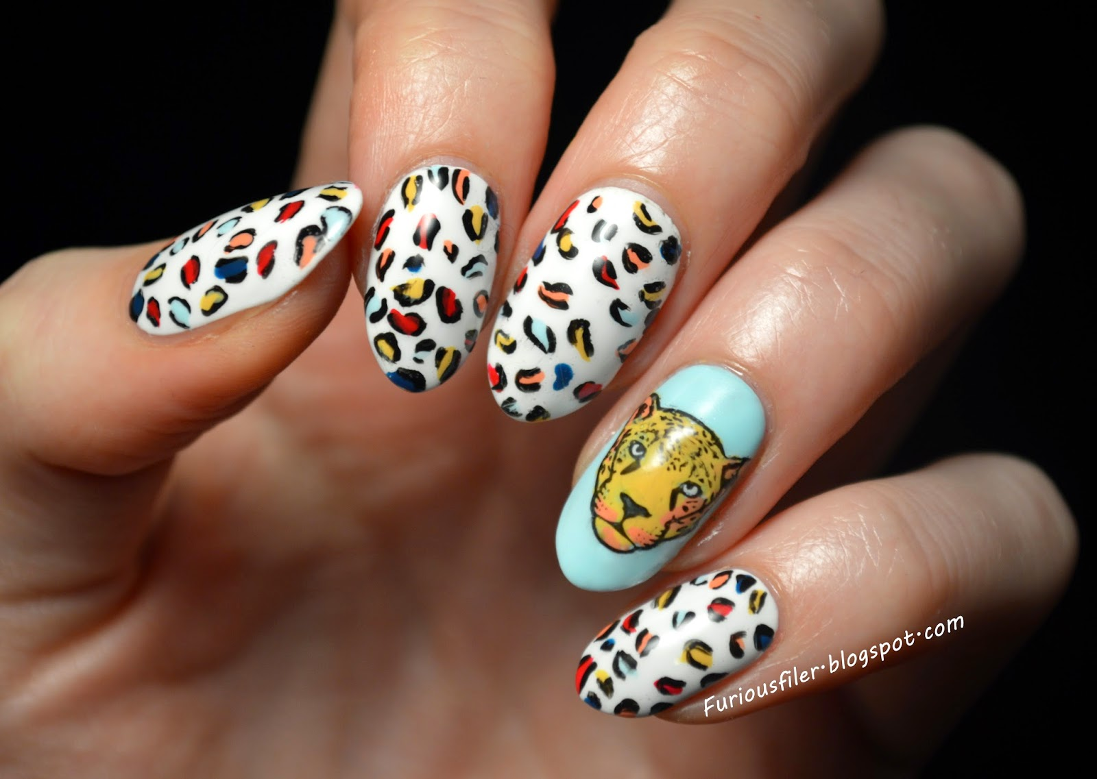 Colourful leopard print, animal print, Moyou, advanced stamping