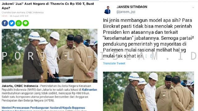 Jokowi 'Jual' Aset Negara di Thamrin Cs Rp 150T Demi Pembangunan, Kader Demokrat: Membangun Macam Apa?