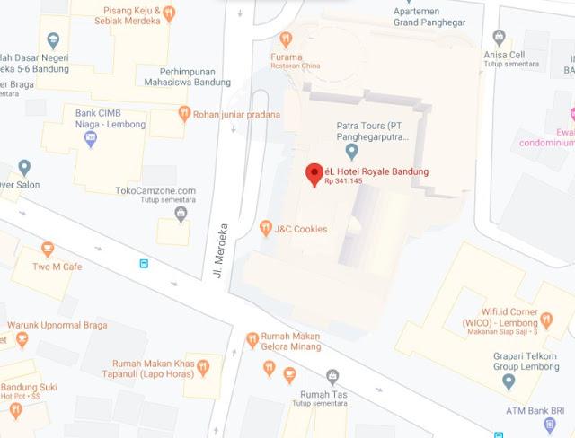 Map Letak Hotel El Royale Bandung