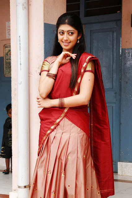 Pranitha Latest HQ Stills In Red Saree Actress Trend