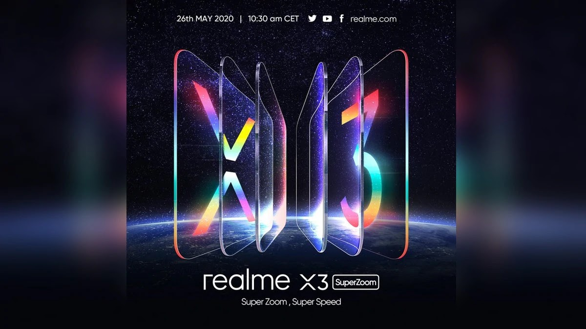 The Realme X3 SuperZoom will be officially launched on 26 May