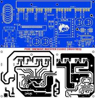 PCB Layout Pure Sine Wave Inverter 12V to 220V AC
