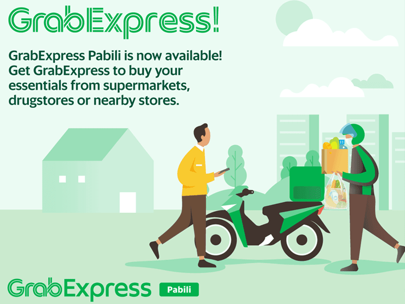 GrabExpress Pabili on-demand pabili service is now available!