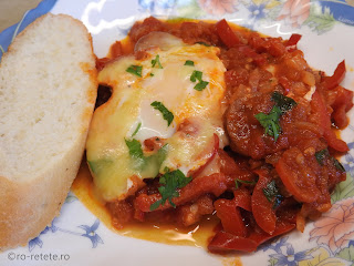 Shakchouka reteta chakchouka shakshuka saksuka israeliana carnati oua legume ardei sos tomat rosii bulion retete mancare ghiveci tocanita tocana,