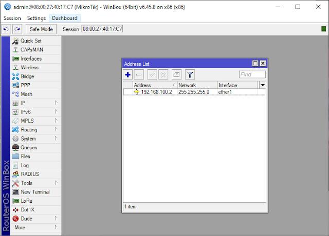 Konfigurasi RouterOS Mikrotik