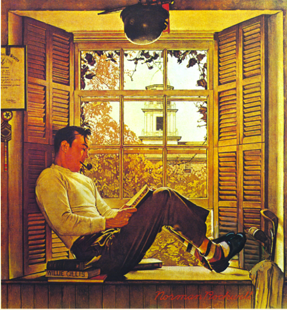Norman Rockwell, A study for Willie Gillis in College, 1946, oil on board, 29 x 27 cm.