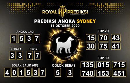 Royal Prediksi Sidney Minggu 11 Oktober 2020