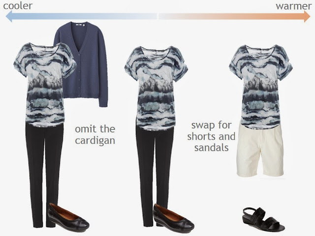 3 ways to wear a tie dye tee shirt, from cold to warm weather.