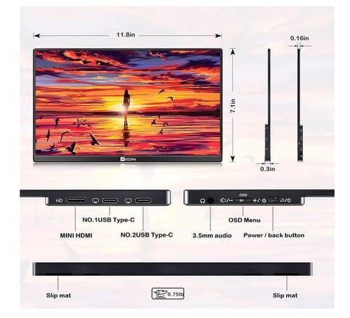 ARZOPA Ultra Slim 1080P Full HD Portable Monitor