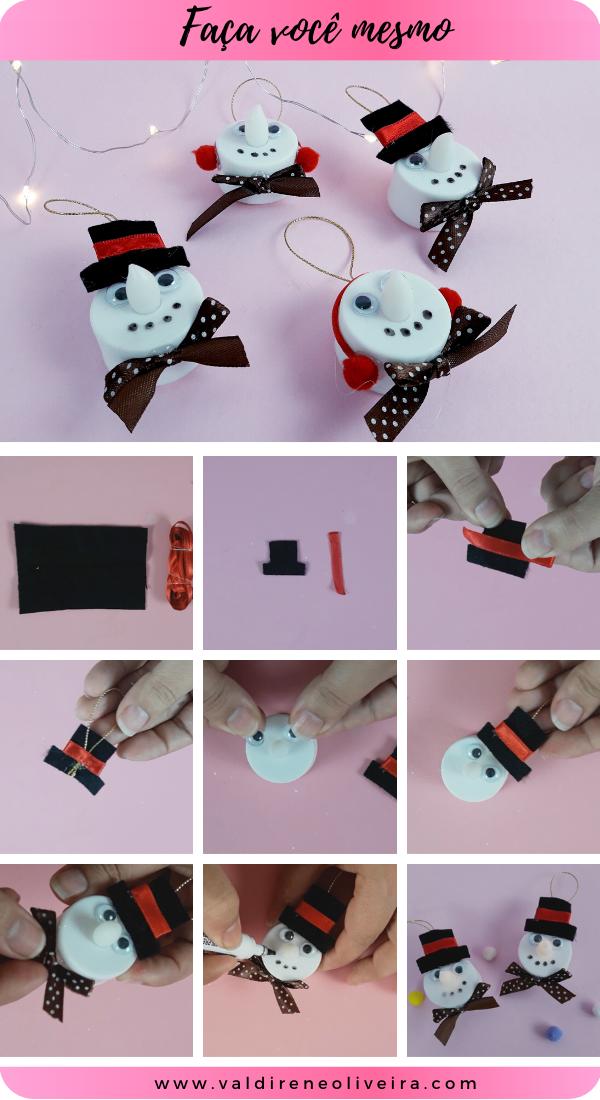 como fazer boneco de neve para decorar