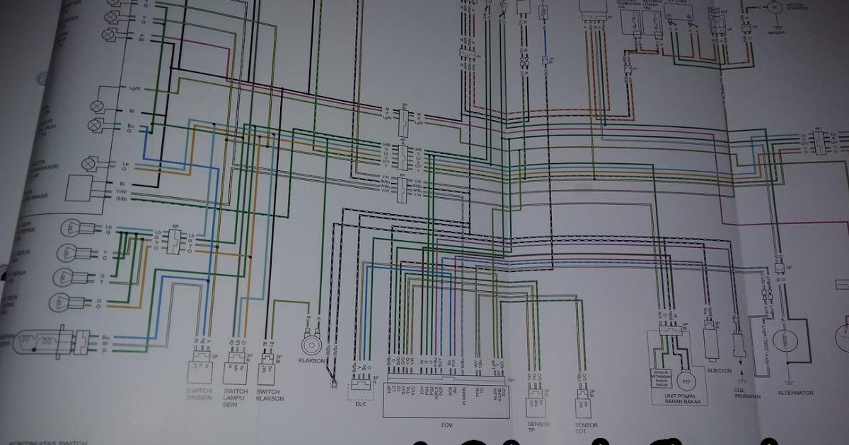 Diagram Keslistrikan Revo Fi  Dari Soket Kiprok Dan Jalur