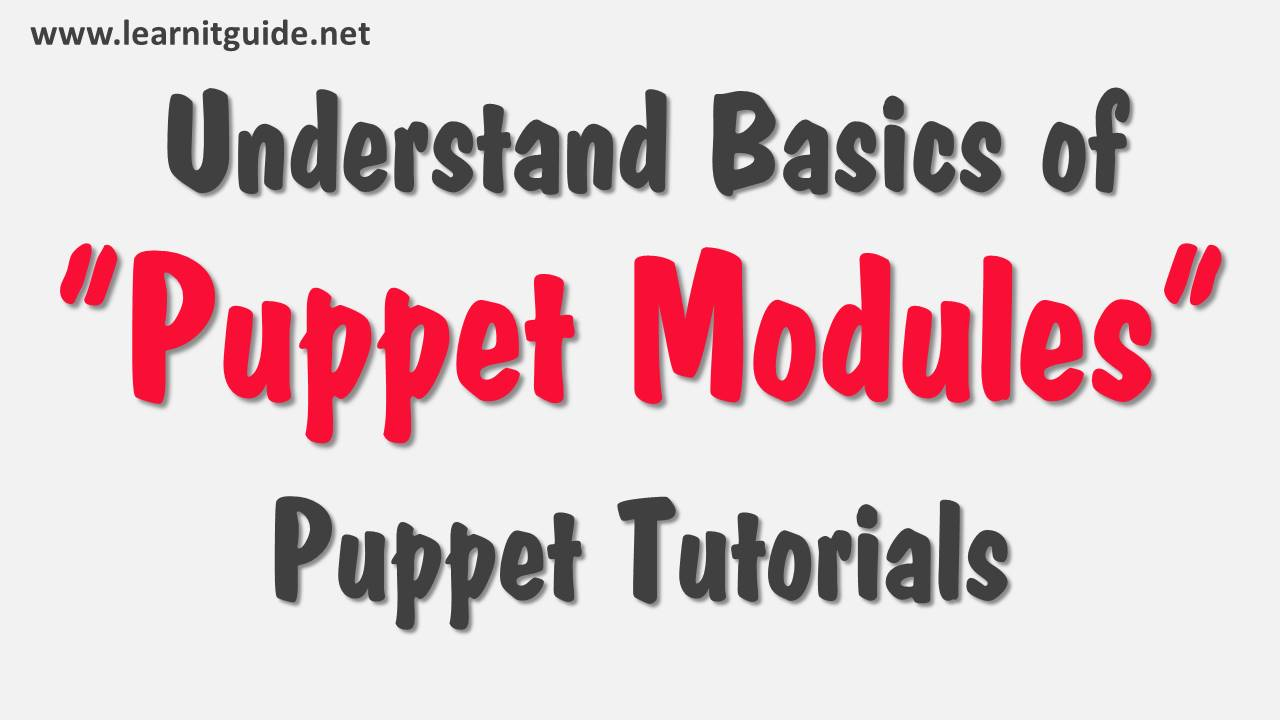 understand basics of puppet modules - puppet tutorials