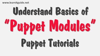 Understand Basics of Puppet Modules - Puppet Tutorials
