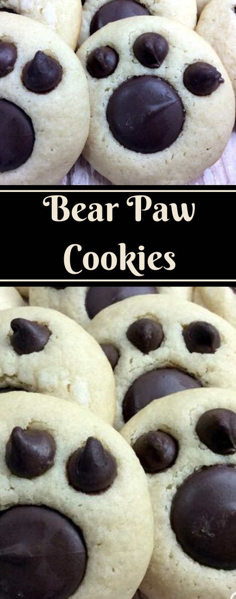 BEAR PAW COOKIES #cookies #desserts #cakes #bear #pumpkin