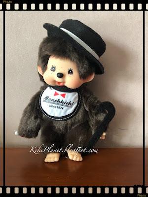 kiki monchhichi cane chapeau charlie chaplin sekiguchi