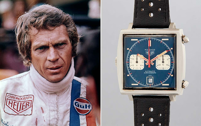 The Heuer Monaco worn by Steve McQueen for the 1971 film on sale at Phillips New York on 12 December 2020