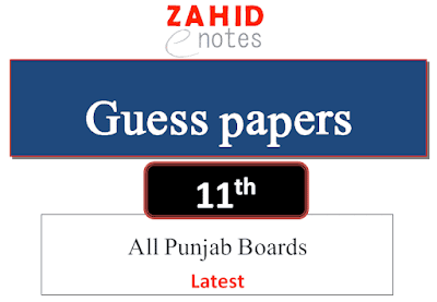 1st year guess papers 2021 for punjab board