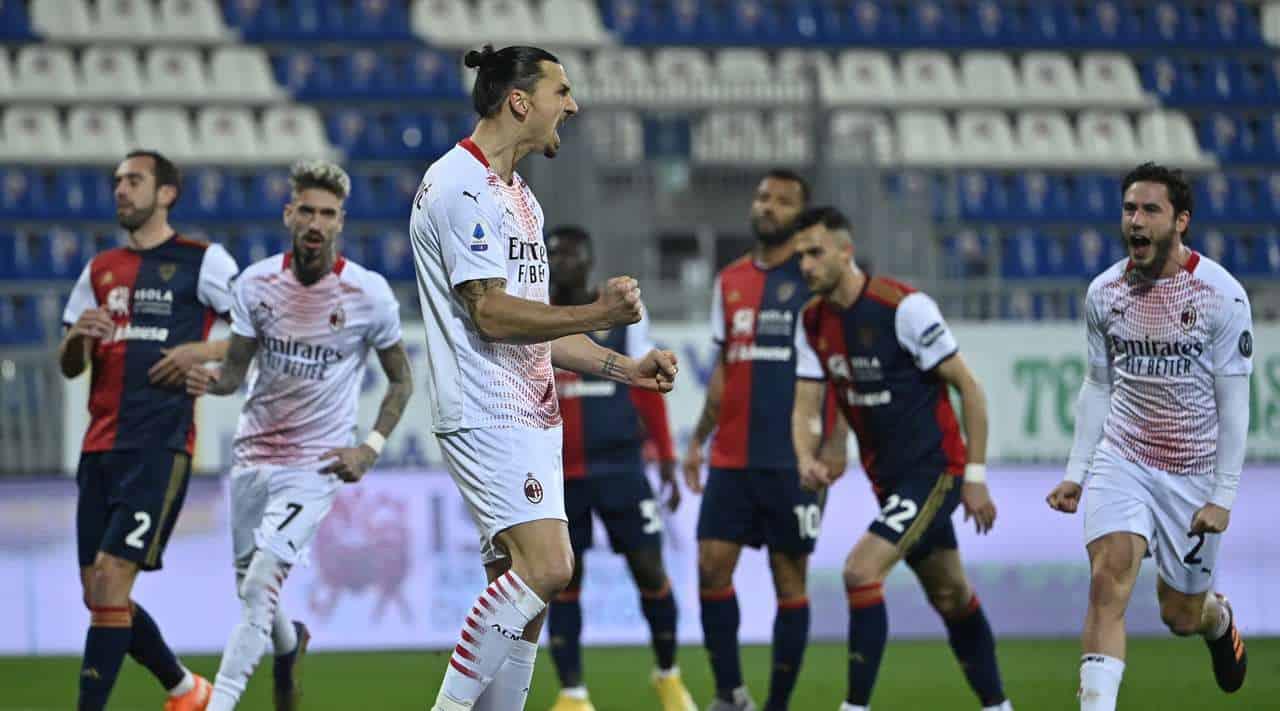 مباراة ميلان وكالياري في الدوري الايطالي