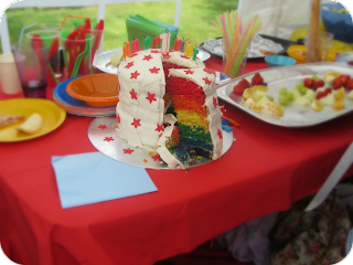 rainbow cake, first birthday cake, homemade rainbow sponge, silent sunday
