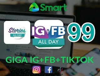 Smart Giga Stories 99 – 2GB + 1GB for FB, IG and TikTok Every Day for 1 Week
