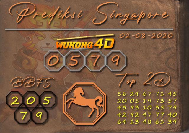 Prediksi Togel SINGAPORE WUKONG4D 02 AGUSTUS 2020