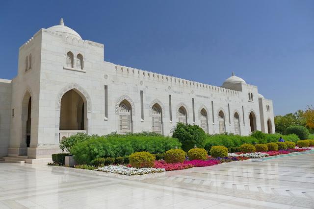 gross, Sultan, Qabus, Moschee, Nebengebäude, Garten, muscat, Oman