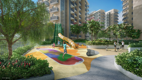 Sengkang Grand Residences - Play Ground Trampoline Thrill