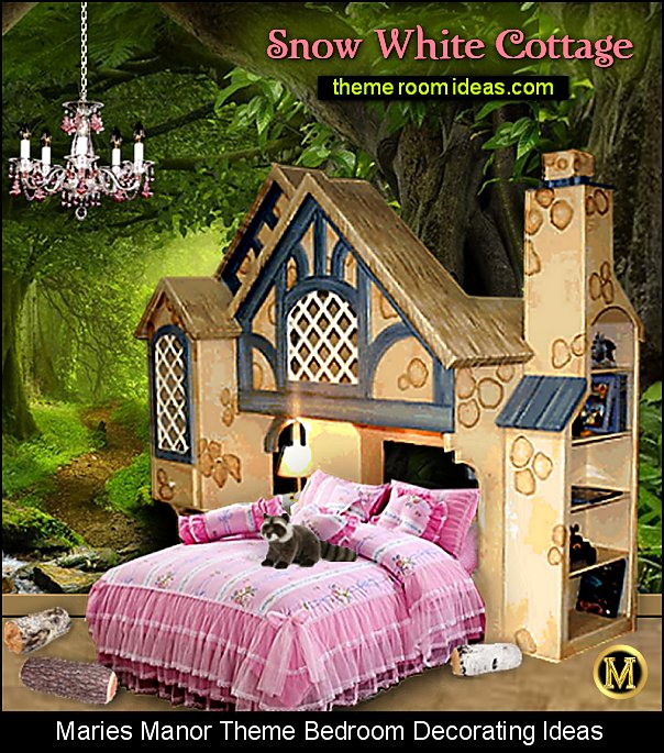 snow white cottage bed snow white bedroom furniture forest mural snow white themed room