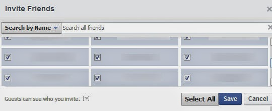 Facebook Invite All Chrome