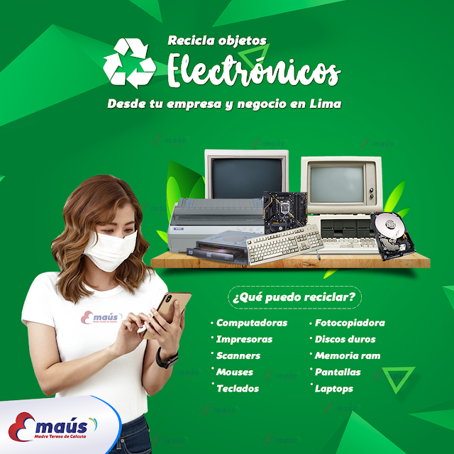Recicla objetos electrónicos en Lima